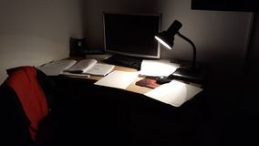 Mijn bureau stock afbeelding