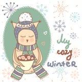Mijn comfortabele winter Stock Afbeelding