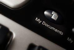 Mijn de kortere wegknoop van het documententoetsenbord. royalty-vrije stock foto