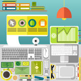 Mijn Desktop, zaken, bureau Royalty-vrije Stock Afbeelding