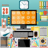 Mijn Desktop, zaken, bureau Stock Afbeelding