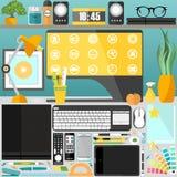 Mijn Desktop, zaken, bureau Royalty-vrije Stock Fotografie