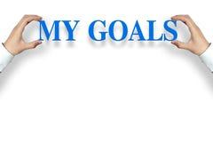 Mijn doelstellingen stock afbeelding