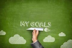 Mijn doelstellingen concept Stock Foto's