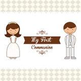 Mijn eerste kerkgemeenschap Royalty-vrije Stock Foto's