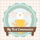 Mijn eerste kerkgemeenschap Stock Afbeelding