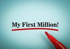 Mijn eerste miljoen Stock Fotografie