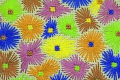 Geborduurde bloemen 1 Royalty-vrije Stock Foto