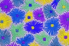 Geborduurde bloemen 2 Stock Afbeeldingen