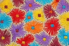 Geborduurde bloemen 6 Stock Afbeelding