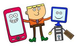 Mijn elektronische vrienden Stock Foto