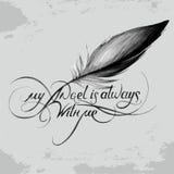 Mijn engel is altijd met me_6 stock illustratie