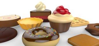 Mijn favoriete cakes Stock Fotografie