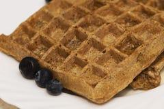Mijn Favoriete Pluizige Flourless-Wafels stock foto's