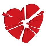 Mijn gebroken hart Stock Afbeelding