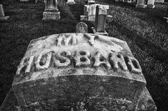 Mijn grafsteen van de Echtgenoot Stock Afbeelding