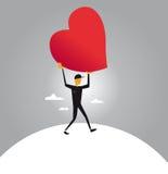 Mijn hart behoort tot u Stock Foto's
