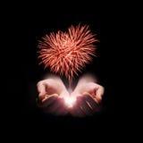 Mijn hart met liefde aan u Stock Foto