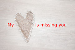 Mijn hart mist u Royalty-vrije Stock Afbeeldingen