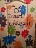 Mijn het schilderen deur Royalty-vrije Stock Foto's