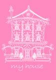 Mijn huis stock illustratie