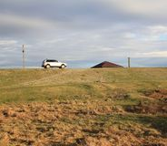 Mijn huis, mijn auto Royalty-vrije Stock Fotografie