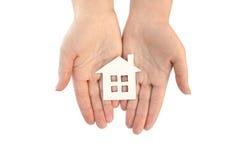 Mijn huis in mijn handen Stock Foto
