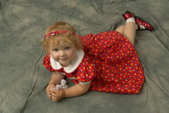 Mijn kleine dochter Stock Afbeelding