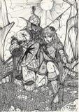 Mijn kunstwerk - elf 003 royalty-vrije illustratie