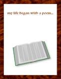 Mijn leven begon met een gedicht? royalty-vrije illustratie