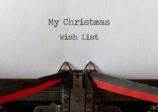 Mijn Lijst van de Kerstmiswens, oude stijl Stock Fotografie