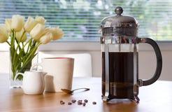 Mijn ochtendkop van koffie Stock Afbeeldingen