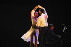 Mijn ogen slechts u - De identiteit van het geheim-tango Dansdrama Royalty-vrije Stock Afbeelding