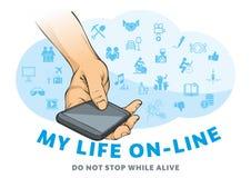 Mijn online leven royalty-vrije illustratie