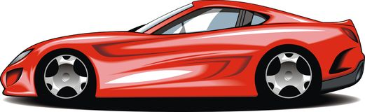 Mijn origineel sportwagenontwerp stock illustratie