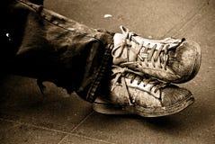 Mijn oude schoenen Stock Afbeelding
