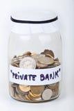 Mijn privé bank Stock Foto