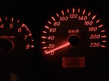 Mijn snelheidsmeter stock foto's