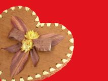 Mijn Valentijnskaart hart-vormige doos Royalty-vrije Stock Foto