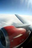 Mijn venstermening van vliegtuig Royalty-vrije Stock Foto's