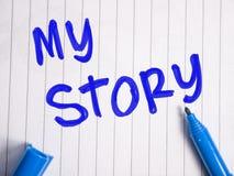 Mijn Verhaal, de Citatenconcept van het Levens Motievenwoorden royalty-vrije stock afbeelding