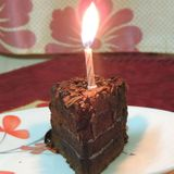 Mijn verjaardagscake Stock Fotografie