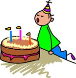 Mijn verjaardagscake stock illustratie