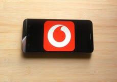 Mijn Vodafone app stock afbeeldingen