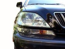 Mijn voertuigkoplamp die door weg wordt geïsoleerds te knippen Royalty-vrije Stock Foto