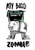 Mijn werkgever werd plotseling een zombie! Hij zelf merkte het op zelfs niet royalty-vrije illustratie