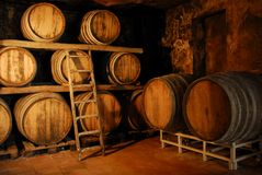Mijn wijnruimte. Royalty-vrije Stock Foto