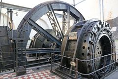 Mijn Windende machines royalty-vrije stock foto's