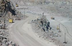 Mijnbouw in carrière Stock Afbeelding
