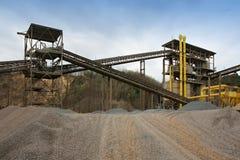 Mijnbouw in de steengroeve Royalty-vrije Stock Afbeeldingen